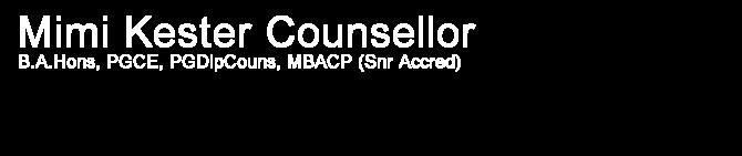 Mimi Kester Counsellor